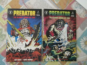 Predator Bloody Sands Of Time 1 & 2 ,Dark Horse Comics  I say 8.5 at least