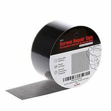 by.RHO Window Screen Repair Kit Black XL15FT 3-Layer Strong Adhesive & Waterp...