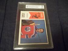 1974-75 OPC O-Pee-Chee WHA #64 Jacques Plante Edmonton Oilers - KSA 5 EX