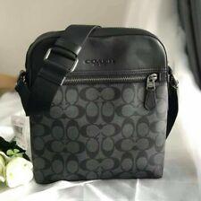 Coach Houston Men's Flight Bag in Charcoal/Black  F73336