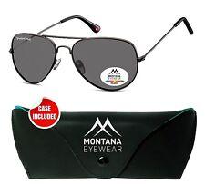 Trendige Sonnenbrille MONTANA MP96 gun Aviator Stil Polarized    vom OPTIKER