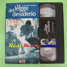 film VHS cartonata LA LEGGE DEL DESIDERIO Pedro Almodovar L'UNITA' (F75*) no dvd