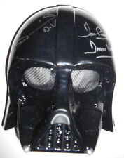 STAR WARS - DARTH VADER toy mask personally signed DAVE PROWSE & DANIEL NAPROUS