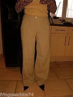 exceptionnel pantalon large beige  MC PLANET taille 44 NEUF ÉTIQUETTE