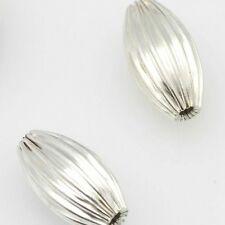 Pack of 10 7x12mm Oval Tibetan Silver Spacer Charms Finding Beads