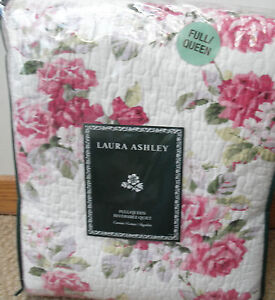 3PC NEW Laura Ashley Lidia Full Queen Quilt and 2 Standard shams 100% cotton