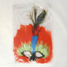 12 Peacock Feather Mardi Gra Masks costume party items dress up face mask new