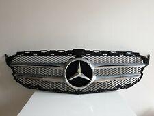 Mercedes Benz C Class W205 AMG Silver Chrome Front Bumper Grill A2058800183