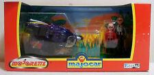 MAJORETTE VTG 1997 MAJOCAR DIE-CAST # 7300 MOTORCYCLE w/ SIDECAR & 2 RIDERS MIP