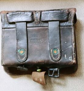 Civil War Leather Dingee & Lorigan Cartridge Box/ Tin Inserts