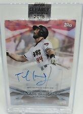 2018 Topps Clearly Authentic Award Winners Red /50 Paul Goldschmidt Auto