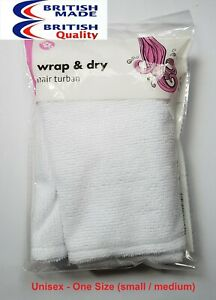 Quick Drying Hair Turban Twist Wrap Hair Towel Loop Button Shower Bath Cap Hat