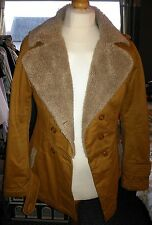 Faux sheepskin quilted jacket size 10/12 very stylish
