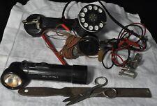 VINTAGE BELL TELEPHONE ROTARY PHONE TESTER/FILE/SCISSORS/FLASHLIGHT/HEADPHONE