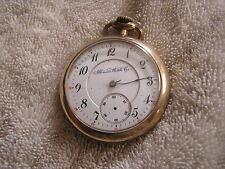 Antique Illinois Pocket Watch Double Sunk Dial 17 Jewels