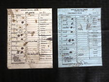 9/3/2005 Braves/Reds Line Up Cards Griffey Jr/Chipper.. Cox & Narron Autograph