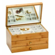 Mele & Co Bamboo Jewellery Chest