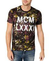 Guess Mens T-Shirt Purple Black Size Large L Graphic Tee Graffiti Drip $39 229