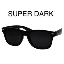 ULTRA super Extra DARK Wayfare Black Sunglasses MEN WOMEN Aviator Nerd Geek Thug