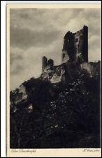 Drachenfels Burg Ruine Castle bei Königswinter ~1920/30 alte AK ungelaufen