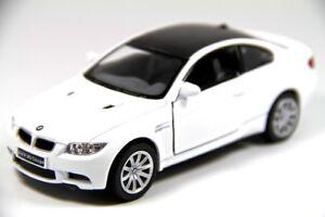 "Brand New 5"" Kinsmart BMW M3 Coupe E92 Diecast Model Toy Car 2 Door 1:36 WHITE"