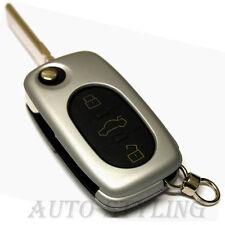 SILVER KEY COVER per Audi 3 pulsante caso fob remoto PROTECTOR PAC SHELL AUTO 41S