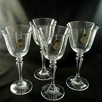 "PAGEANT by Schott Zwiesel Crystal WINE GLASSES Platinum Trim 7 7/8""  - Set of 4"