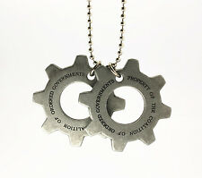 New Licensed Gears of War 3 Cog Dog Tag Memorabilia Pendant Necklace US Shipped
