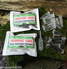 10 x permanganate de potassium + 10 x feu de glycérol à partir de survie bushcraft