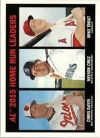 2016 Topps Heritage Seattle Mariners Baseball Card #243 Cruz /Trout /Davis