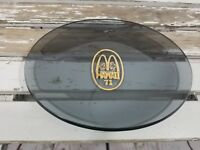 Owner only McDonalds RARE advertising Hawaii Smoke gray glass Tray 1971 Plate
