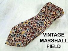 40s Vintage BOLD ERA SWING MARSHALL FIELD Tie Rockabilly Blood Red Floral Wide