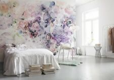 NON WOVEN giant wallpaper 368x248cm Pink & Purple flowers Wall Mural for bedroom