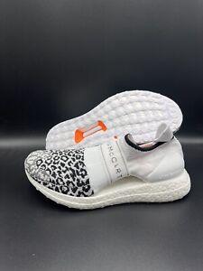 Adidas UltraBoost X 3D Knit Stella McCartney White Leopard Print - Woman's Sz 10