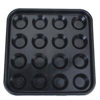 Durable Plastic Pool Billiard Ball Tray Holds 16 Balls - Black
