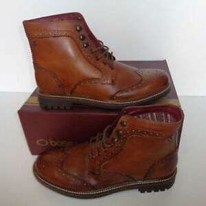 Base London Mens Tan Brogue Leather Boots Ankle Shoes New RRP £80 Sizes 6 & 7
