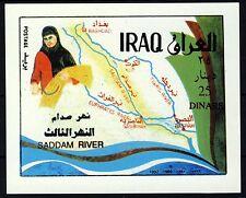 Iraq SAGGIO o prova 1995 25 DINAR Saddam River completamento problema su carta satinata