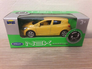 Welly NEX Renault Clio RS, Yellow, No. 52334 - 1:64 1/64 1:60 1/60