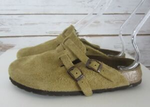 BIRKENSTOCK Womens 6 - 6.5 Tatami RHEIN Germany Light Brown Leather Suede Clogs
