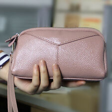 Real Leather Womens Wristlet Clutch Handbag Purse Lady's Wallet Pocket