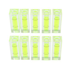 10pcs Mini Level Picture Hanging Bubble Level for Measuring Equipment Green