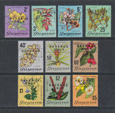 Guyana 1975 Used FU Full Set to $5 Revenue Only Flowers South America Heliconia