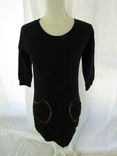 099fb0a8aa7 Love Moschino Black Sweater Dress Heart Pockets Size 4