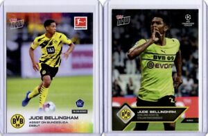 Topps Now 004 Jude Bellingham Rookie 1st Card & 026 Second Season Card