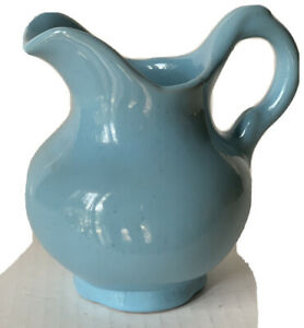 Frankoma Light Blue Small Pitcher / Gorgeous Vintage Pottery