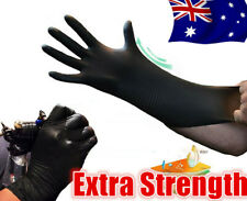 100pcs Black Nitrile Rubber Tattoo Piercing Gloves