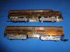 Very Rare American Flyer #360 & #361Chrome Santa Fe A/B Diesels w/Wire Handrails