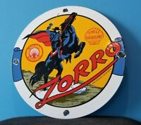 VINTAGE SHELL GASOLINE PORCELAIN GAS ZORRO SERVICE STATION PUMP PLATE SIGN