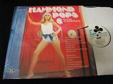 KLAUS WUNDERLICH<>HAMMOND POPS 6<>LP Vinyl~Can. Press<>ACE OF CLUB SCL 2053