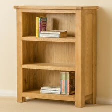 Roseland Oak Small Bookcase / Low Oak Bookcase / Solid Wood Small Book Shelf